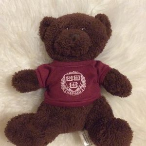 HARVARD UNIVERSITY COLLEGE SCHOOL FAN TEDDY BEAR